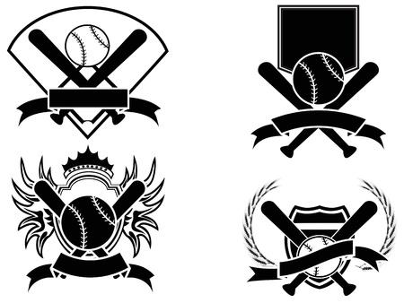 isolated baseball emblem on white background Vector