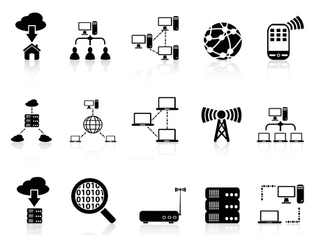 isolated computer communication icons set from white background Stock Vector - 21579650