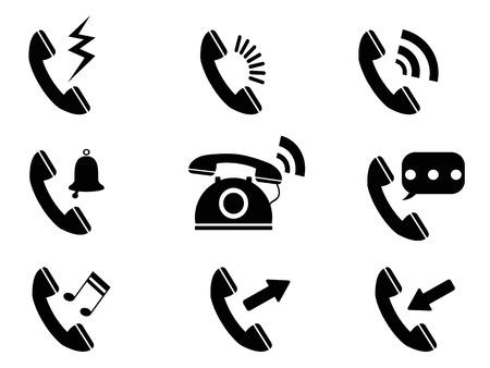 telefonok: elszigetelt telefon cseng ikonok fehér háttér Illusztráció
