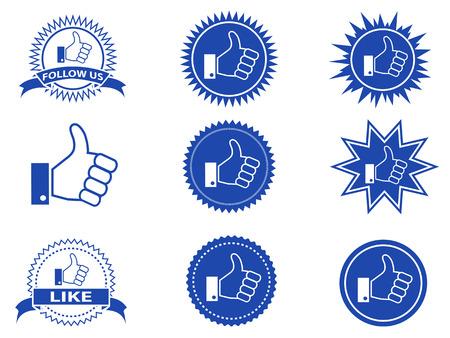 face book: aislado facebook como los botones de blanco bakground