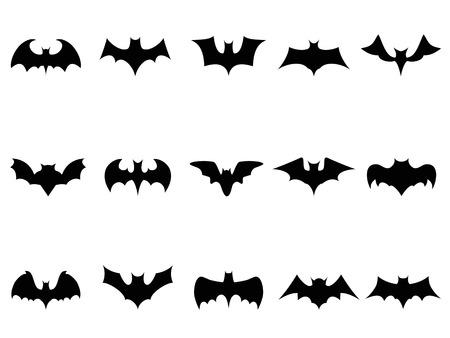murcielago: iconos murciélagos aislados de fondo blanco Vectores