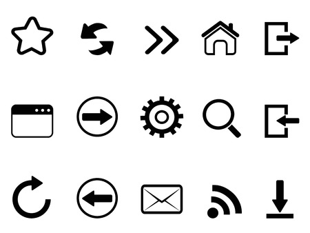 website icons: isolated web browser tools icon on white