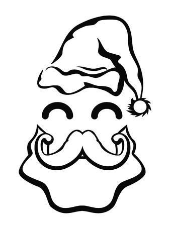 isolated symbol of Santa Claus face on white background Stock Vector - 23857509