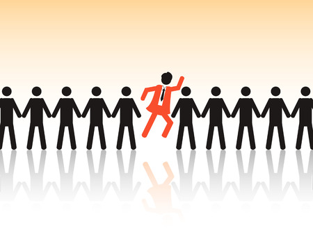 the background of employment issue to choose the best employee Vector