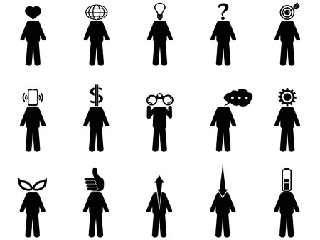 the symbol of People Stick Figure Characteristic Mind Vector