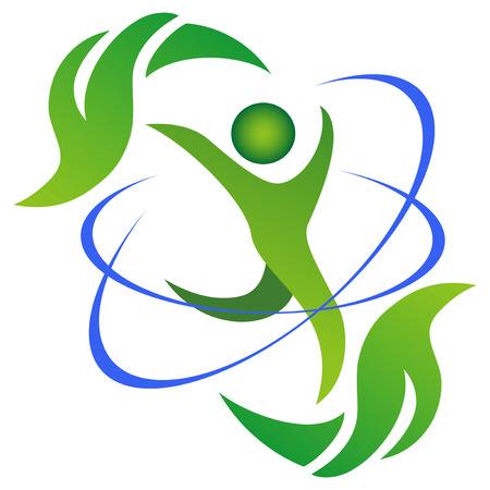 energie: Das Symbol einer gesunden und natürlichen Lebens auf weiß
