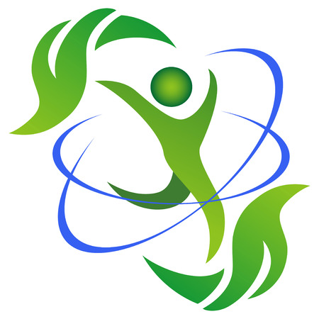 Il simbolo della sana e vita naturale su bianco Archivio Fotografico - 25498157