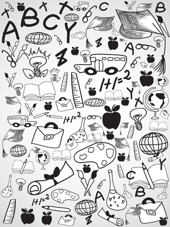 wallpaper doodle: the background of doodle education patterns for design