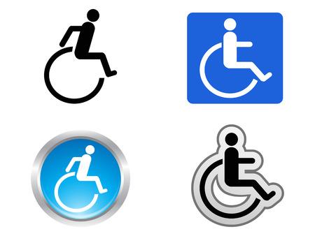 geïsoleerde vier handicap symbool op witte achtergrond