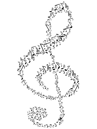 g clef: special music note symbol for design