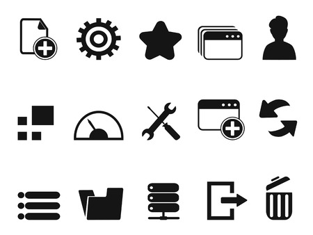 dashboard background: isolated black web Dashboard icons set from white background