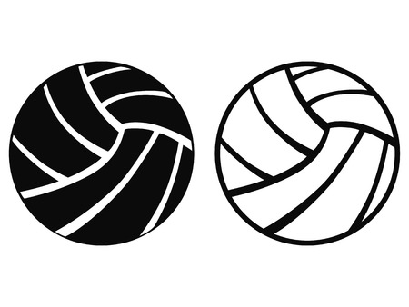 isolated Volleyball from white background Vector