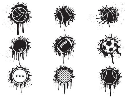 bolas de la salpicadura de icono aislado de fondo blanco