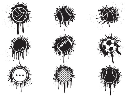 isolated splatter balls icon from white background Vector