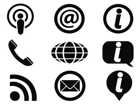 isolated black information icons set from white background Vector