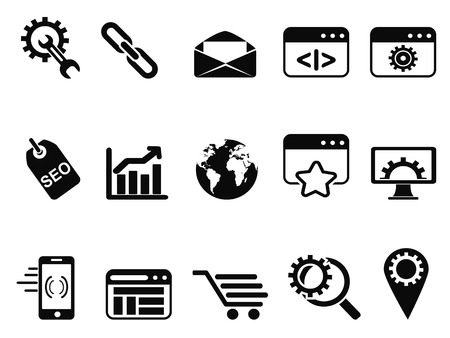 isolated SEO Services icons set from white background
