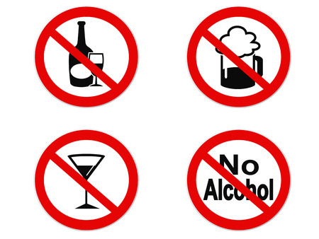 isolated No Alcohol sign icon on white background Vector