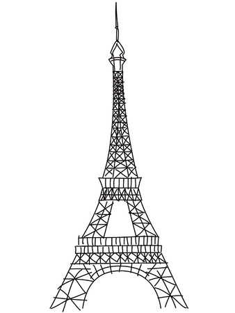 Eiffel tower drawing stock photos royalty free eiffel tower drawing isolated doodle eiffel tower drawing on white background thecheapjerseys Choice Image