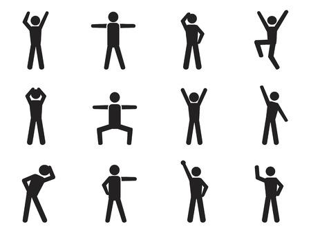 strichm�nnchen: isoliert Strichm�nnchen Haltung Ikonen aus wei�em Hintergrund
