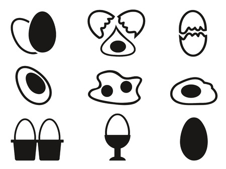 isolated egg icons set from white background  Vector