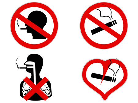 isolated no smoking sign from white background Vector