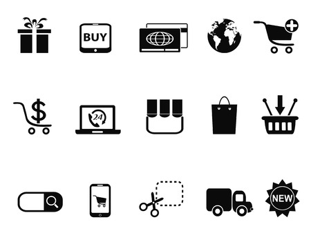 isolated eCommerce & Shopping icons set from white background Vector