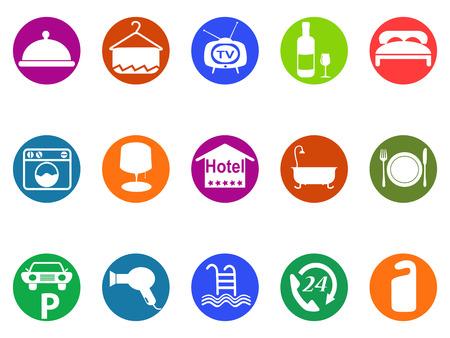 laundry hanger: aislado botones de hotel icon set fondo blanco fromw Vectores