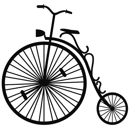 velocipede: isolated Velocipede vector on white background