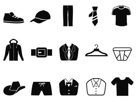 black pants: isolated Black Men fashion icons set from white background