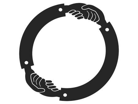logo handshake: isolated Handshake Circle logo on white background