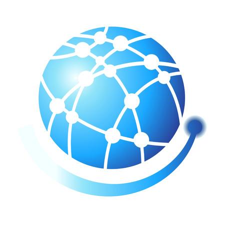 globe logo: isolated Globe symbol design logo on white background