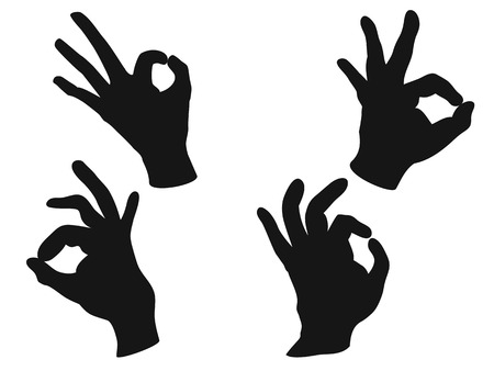 ok: isolated people OK hand sign from white background