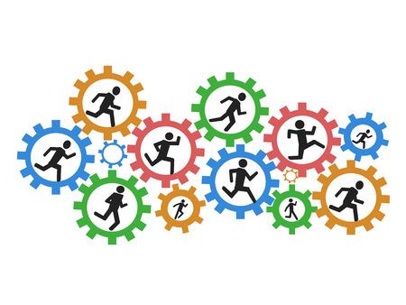 personas corriendo: los antecedentes de las personas que ejecutan marchas
