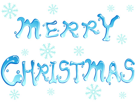 Isolated Blue Merry Christmas Words On White Background Royalty Free ...