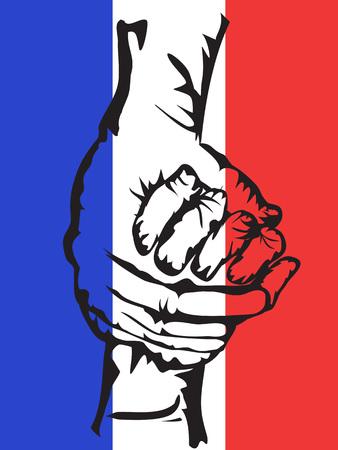 solidaridad: el fondo de las manos que sostienen la solidaridad de Francia