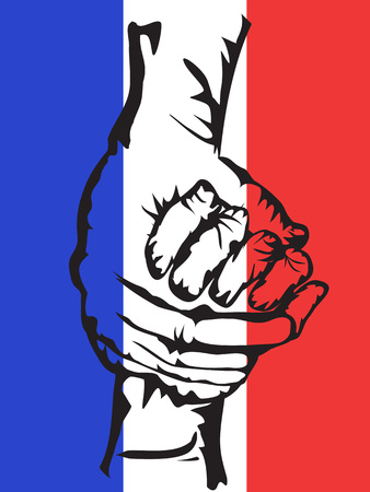 solidarity: the background of hands holding solidarity france