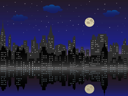 lake district: the background of cityscape in the night