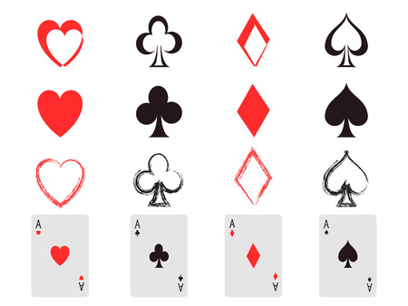 clubs diamonds: Isolated poker card icon from white background Illustration