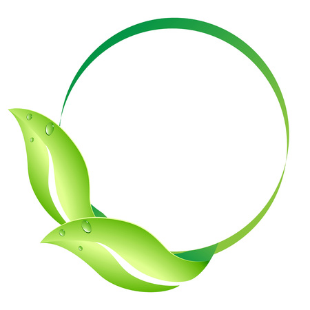 Leaf circle design on white background
