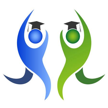isolated graduation logo on white backgronud