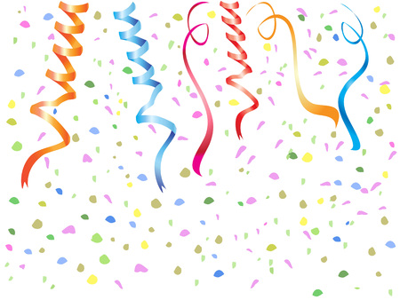 streamers: the background of Streamers, confetti for holidays event design