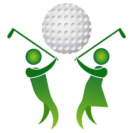 Isolated golf logo design on white background  イラスト・ベクター素材