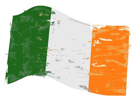 Ireland flag with grunge texture