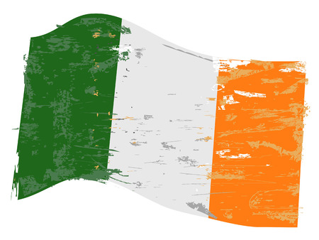 Ireland flag with grunge texture