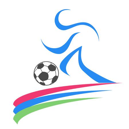 isolated soccer sport logo on white background