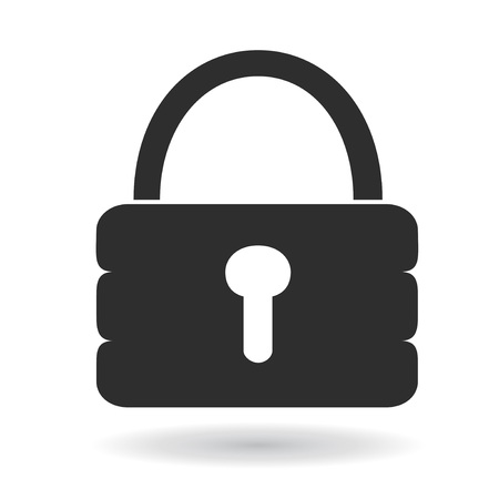 isolated simple lock icon from white background