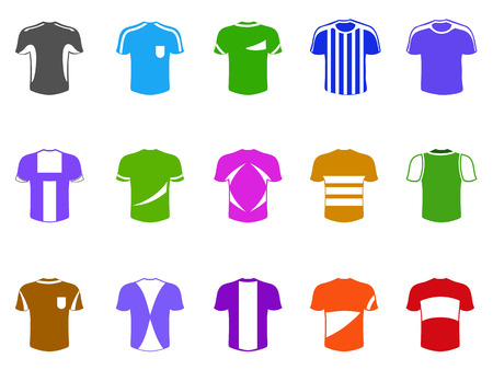 isolated color t-shirt icon from white background 向量圖像