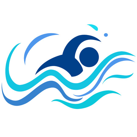 isolated swimming logo from white background
