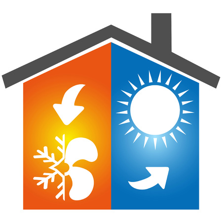 isolated Air conditioning symbol icon logo on white background