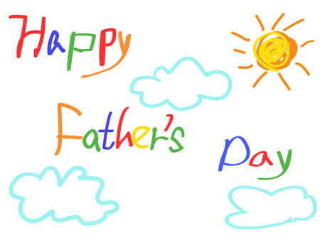happy father's day card for father's day design 向量圖像